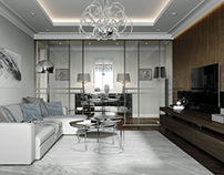 Living room apartment in Moscow. Joint with GPProject