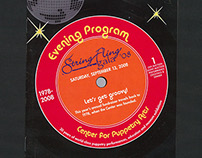 "String Fling Gala Invitation & Program - ""Groovy"""