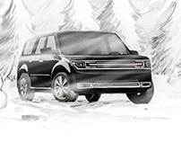 Essex Limo Service Holiday Illustration