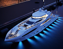 CGI: Sunseeker Predator 130 superyacht 3D model