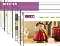 Mock Website for Kitchen+