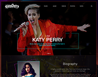 Web Design - Katy Perry