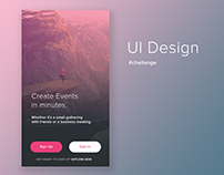 Sign Up / Login App Design