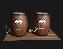 Two Smoking Barrels