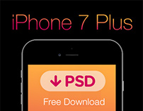 FREE iPhone 7 Plus PSD | Template #freebie #grid #black