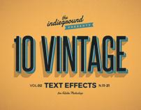 Retro/Vintage Text Effects Vol.2
