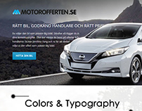 Web App for Automobile online for a Swedish client