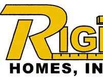Rightway Homes logo design