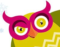 Owl mascot design for daycare center