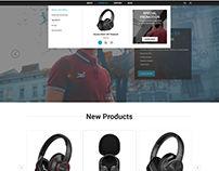 Headphone Homepage UI/UX Design