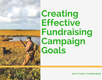 Fundraising Goals by Matt Kupec