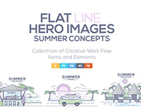 Modern flat thin line design Summer Concepts