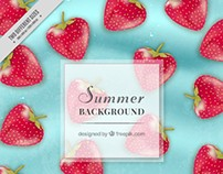 Strawberries Background | Designed for Freepik