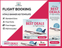 Flight Booking Banner - HTML5 Ad Template