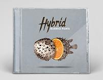 """""""HYBRID"""" album cover for Barrio París"""