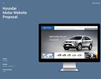 Hyundai Motor Global Website Proposal