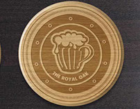 The Royal Oak Pub Coaster Designs