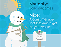 Naughty and Nice Restaurant Social Media Illustrations