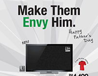 Father's Day Promotional Ad - HarveryNorman 2011