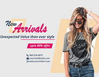 E-commerce Facebook Cover Page Design