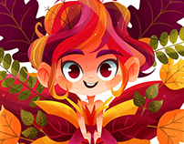 Autumn, the fairy