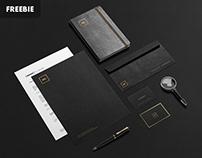 Free Black + Gold Stationery Mockup