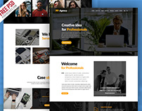 Free PSD : Personal Portfolio And Corporate Website