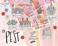 ILLUSTRATED MAPS OF BUDAPEST | 2016