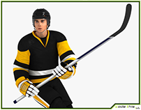 3D Model: Hockey Player HQ