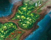Blue stone island map