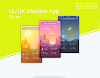 Weather App UI/UX Demo