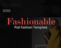 Fashionable – Psd Fashion Template