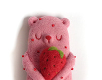 Popsicle Bear - Strawberry Shortcake, Art Toy