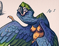 Gold-breasted Harpy - Creature Design