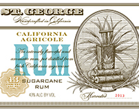 St. George Spirits Labels Illustrated by Steven Noble