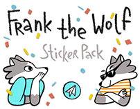 Frank the Wolf — Sticker Pack for Telegram