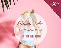 Summer sales Demo Banner