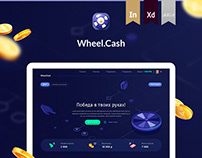 Online game Wheel Cash - Website design