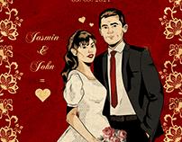 Vintage wedding portrait