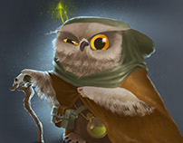 Owl witch (character concept art)