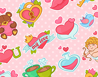 Love Stickers Set
