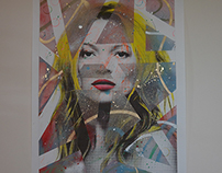 KATE MOSS - original work on Canvas - 2015