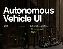 Autonomous Vehicle UI: Premium Asset UI Files
