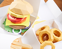 Paper Hamburger
