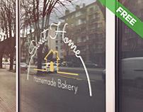 Free Logo Glass Mockup