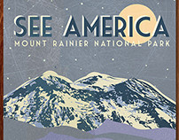 See America Mt. Rainier Poster