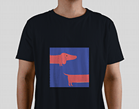 Dacshund~ T-shirt design project for a client.