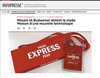 ACTIVATION RFID - BUDWEISER