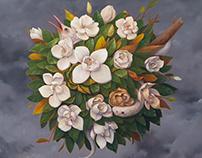 Magnolia - Oil Painting