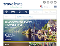Travel Cuts responsive website design